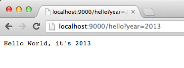 Hello world with query string